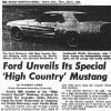 1968 High Country Special article